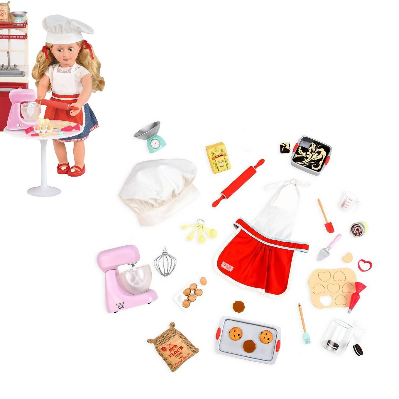 Our Generation Home Accessory  Master Baker Set for 18 Dolls by Our Generation