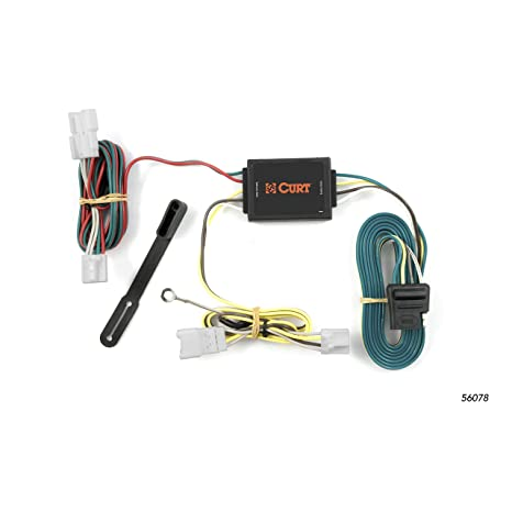 amazon com: curt 56078 vehicle-side custom 4-pin trailer wiring harness for  select hyundai santa fe suv, kia forte: automotive