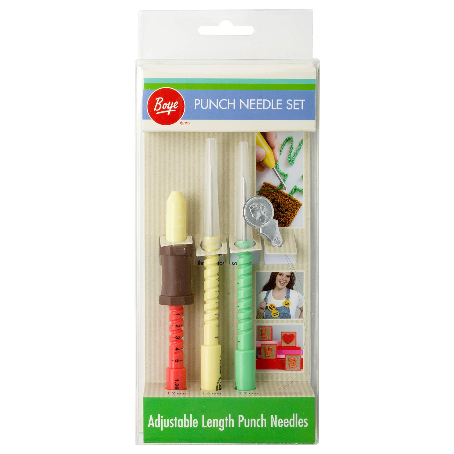 Avery Fasteners Adjustable Length 5pc Punch Needle Embroidery Set