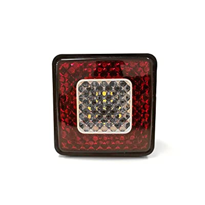 Led Trailer Hitch Cover with Backup Led Reverse Light Automotive Accessories 80 LED Lights 2 Inch Hitch Receiver Cover 4 Way Plug Truck SUV Accessories led Trailer Lights: Automotive