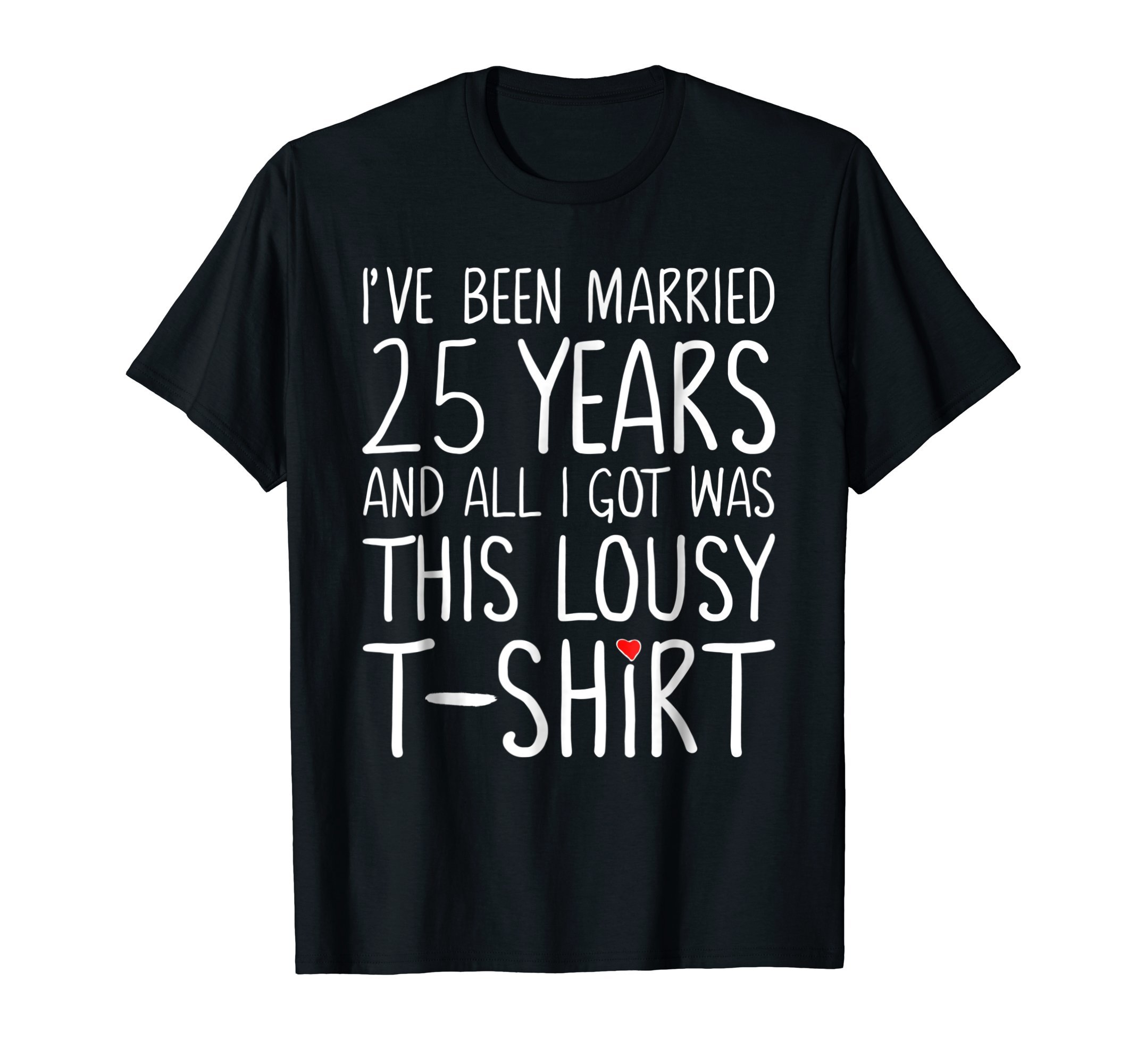 25th Wedding Anniversary Gifts for Him & Her Couples Tshirt