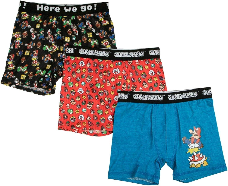 Handcraft Boys Mario Brothers 5 Pack Boxer Brief Boxer Briefs