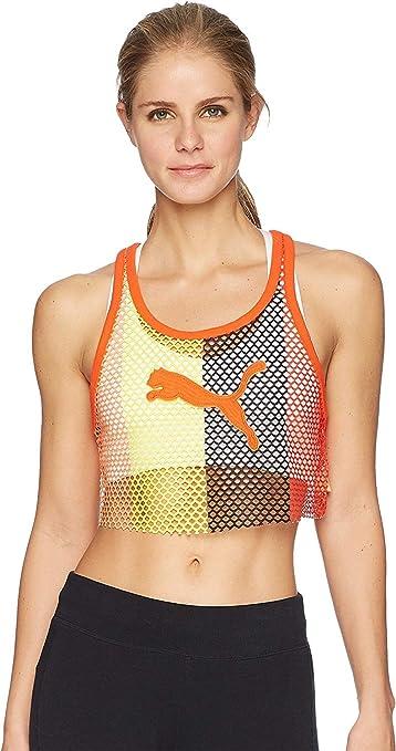 a508b38b1f1 Amazon.com: PUMA Women's Fenty Mesh Cropped Tank Top: Clothing
