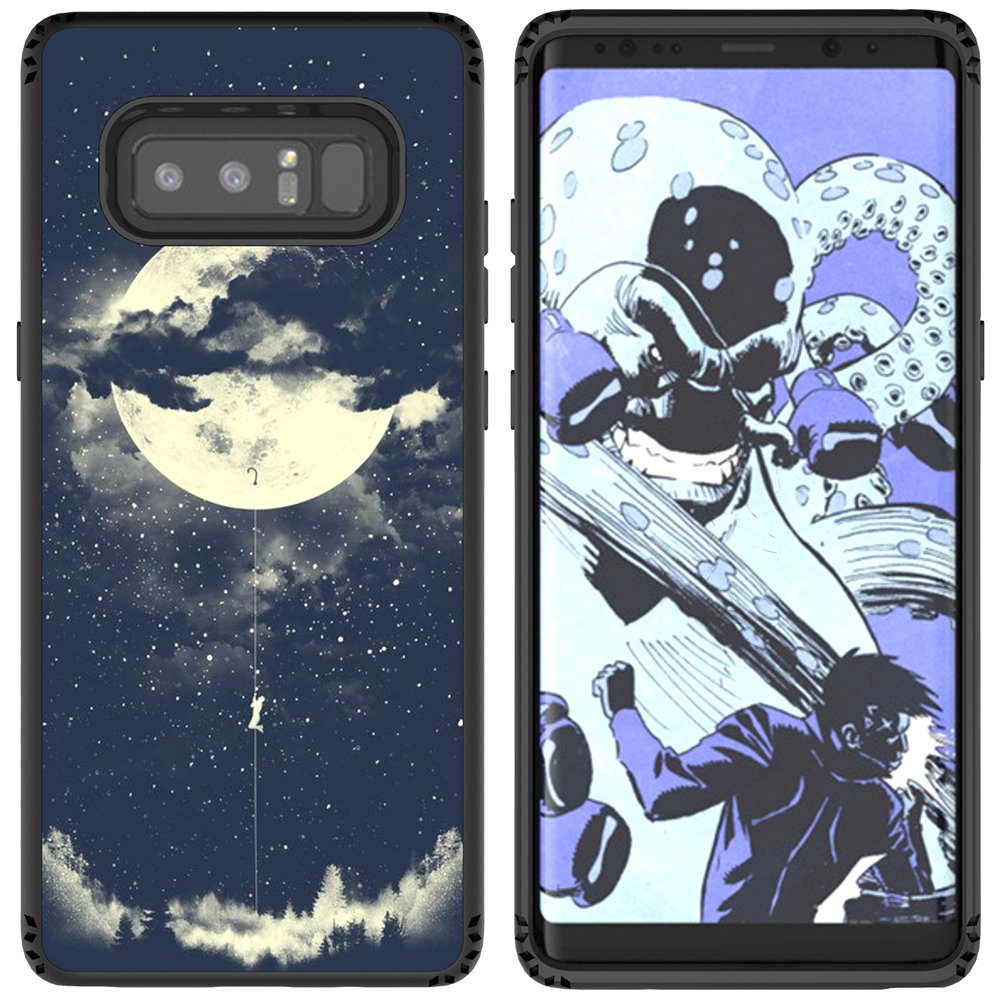 Galaxy Note 8 Case, MagicSky Shockproof Slim Corner Protection with Resilient Shock Absorption Rubber Protective Case Cover for Samsung Galaxy Note8 (2017) 6.3 Inch - Night Sky
