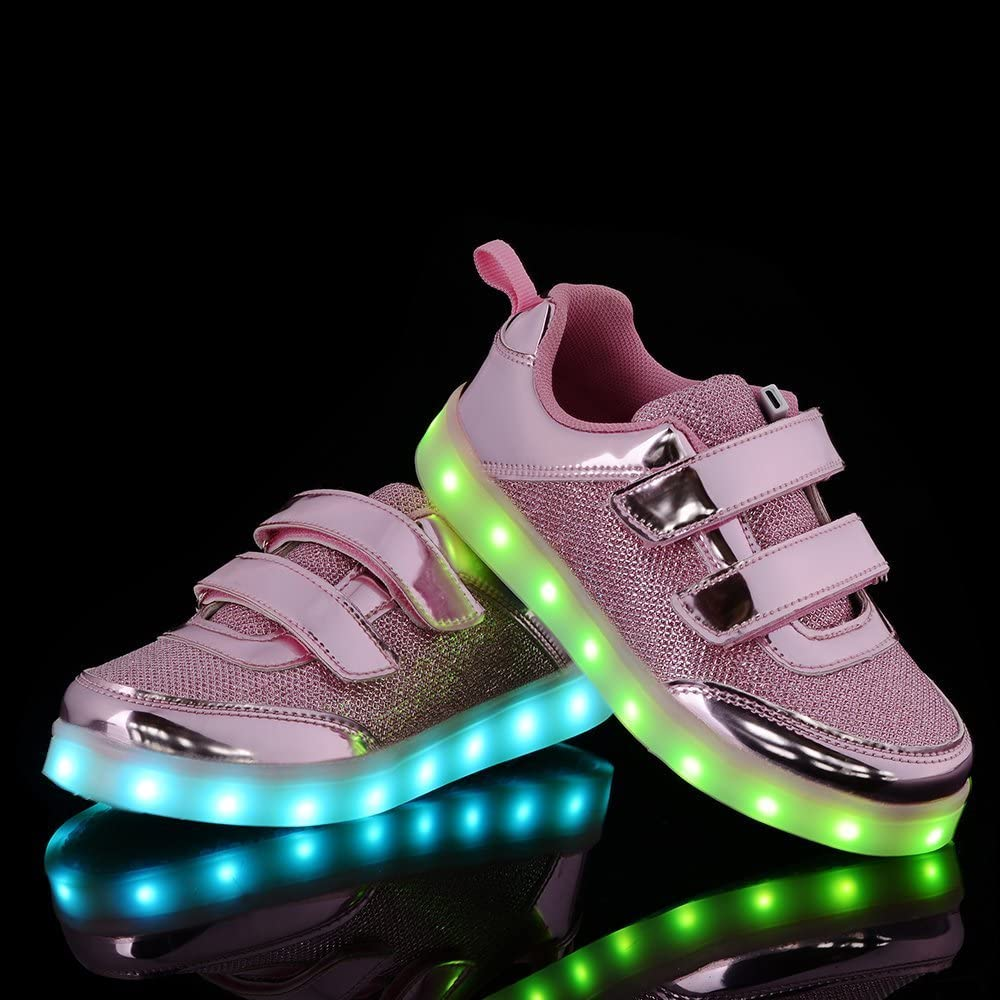 A2kmsmss5a Kids Fashion Breathable LED Light Up Shoes Flashing Sneakers for Girls Boys