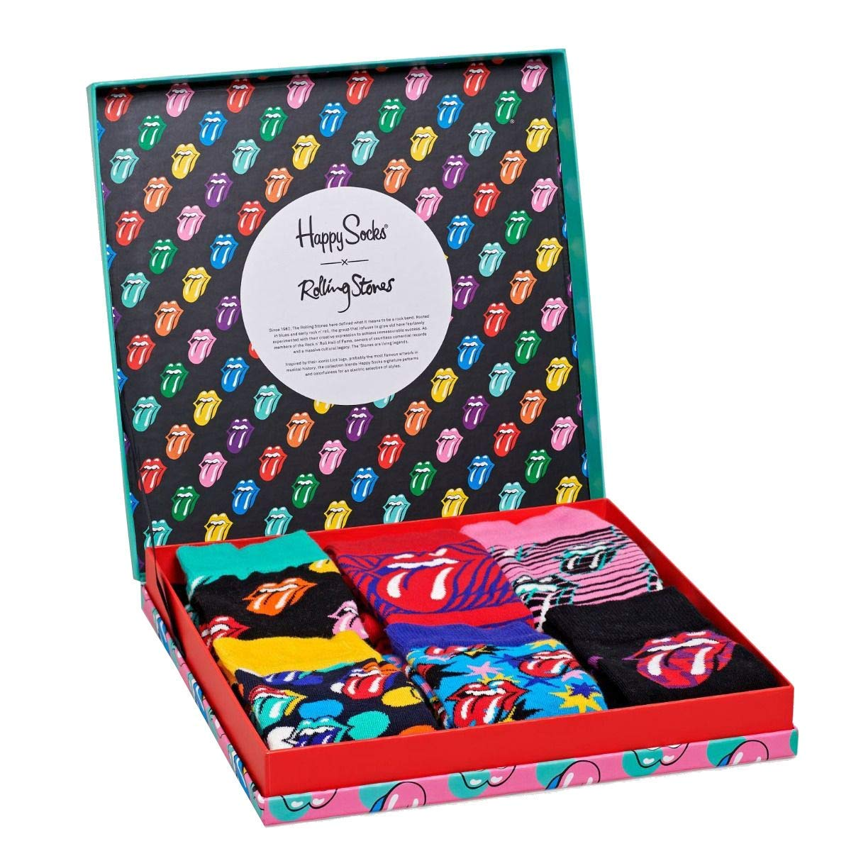 Happy Socks Mens Rolling Stones 6-Pack Sock Box Set