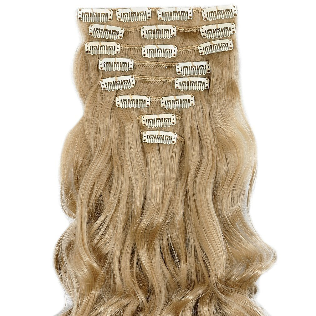 Amazon S Noilite 24 Curly Ash Blonde Full Head Hairpiece Clip