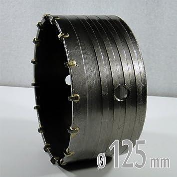 Relativ HM Lochsäge Bohrkrone Dosenbohrer Ø 125 mm für Beton Mauerwerk  PL22
