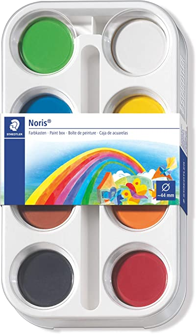 STAEDTLER Noris Club 8870 - Estuche con 8 pastillas de acuarela: Amazon.es: Oficina y papelería