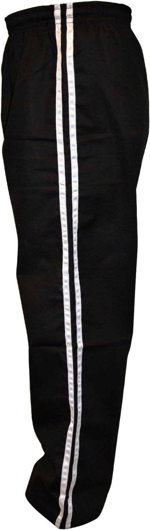 TurnerMAX Karate Pantaloni Neri con Striscia Gialla