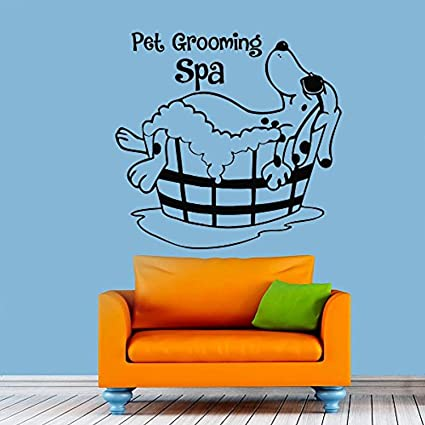 Amazon com: Pet Grooming Dog Grooming Salon Stickers Puppy Pet Shop