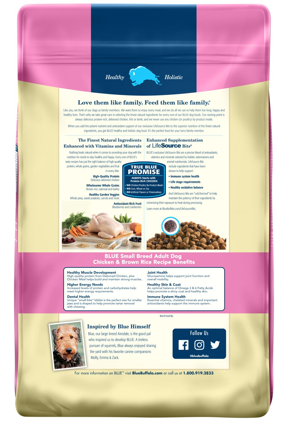 Blue Buffalo Small Breed Chicken & Rice Dog Food, 15 lb. bag by BLUE Life Protection Dog Food (Image #2)