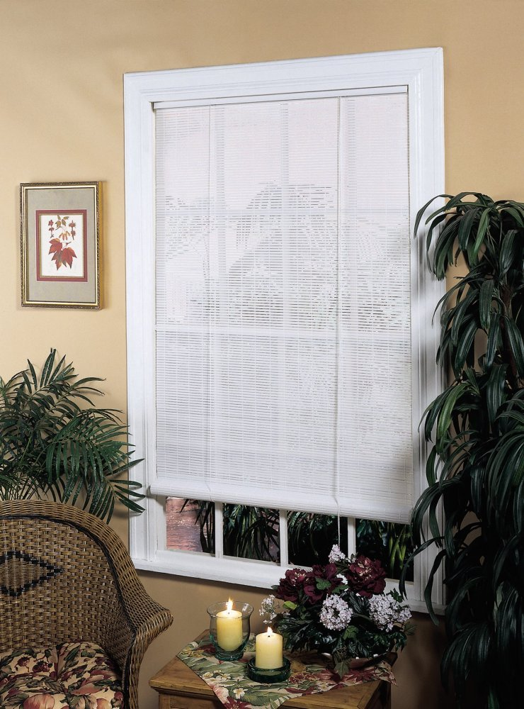 Radiance 0321256 Vinyl PVC Roll Up Blind, Woodgrain, 60 Inch Wide x 72 Inch Long Lewis Hyman