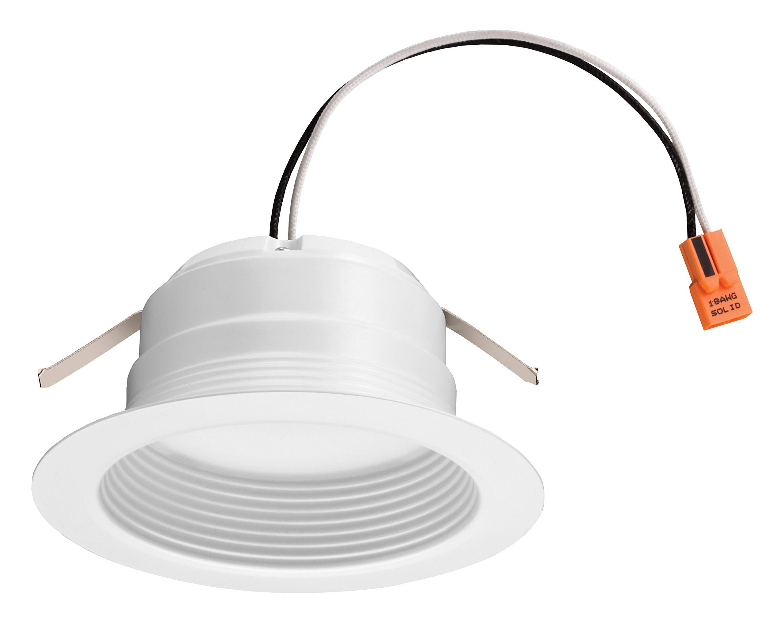 Lithonia Lighting 4BEMW LED 27K M6 4 Inch 11.9W White LED Recessed Baffle Module, 2700K