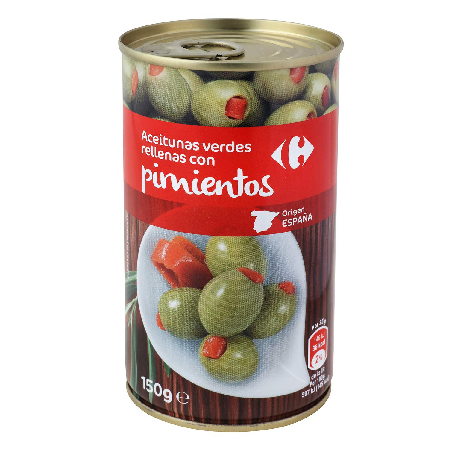 3 Pack Carrefour Green Olives Stuffed With Bell Pepper - 3 x ...