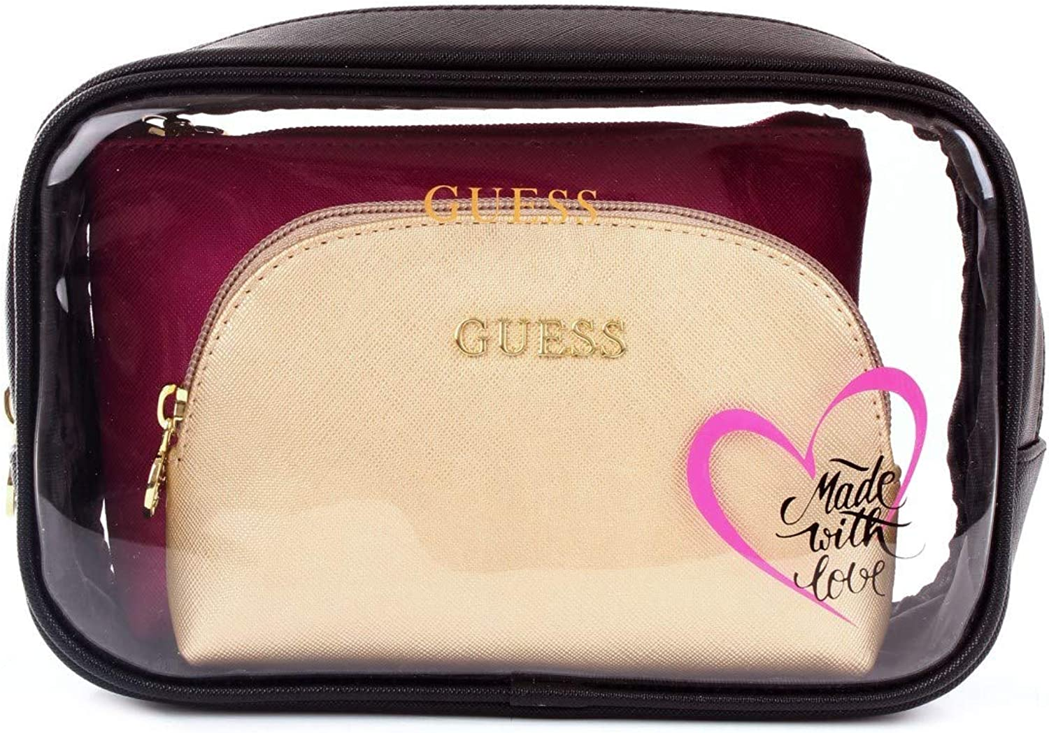 Guess Ariane All In One Pouch Black Multi: Amazon.es: Zapatos y complementos