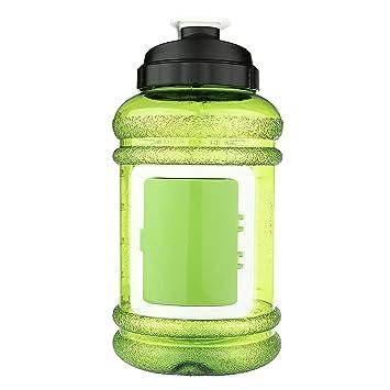 OUTERDO deporte botella de agua jarra de agua, portátil botella de agua 2.2l resina