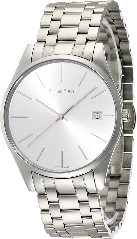 Armbanduhr Herren Calvin Analog Edelstahl Smart Armband Mit K4n21146 Quarz Klein Watch Qrsdth
