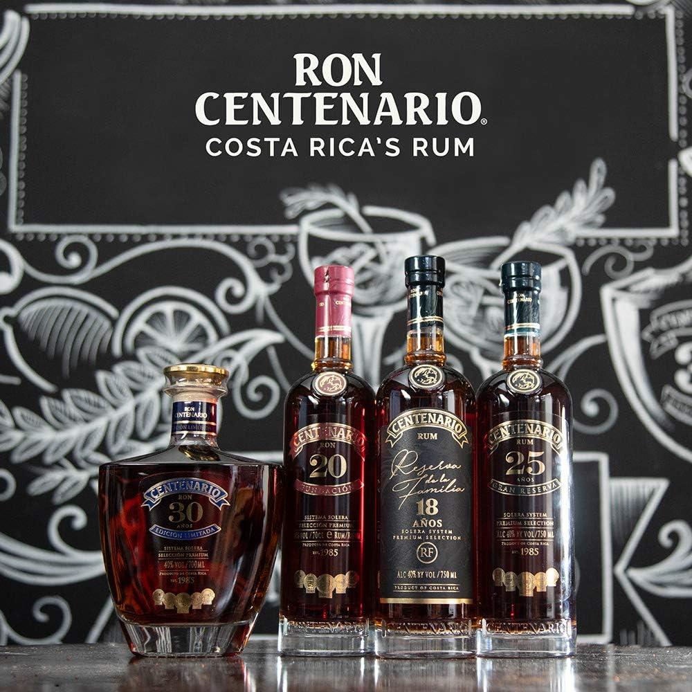 Centenario Ron Reserva Familiar 18 Años - 700 ml: Amazon.es ...