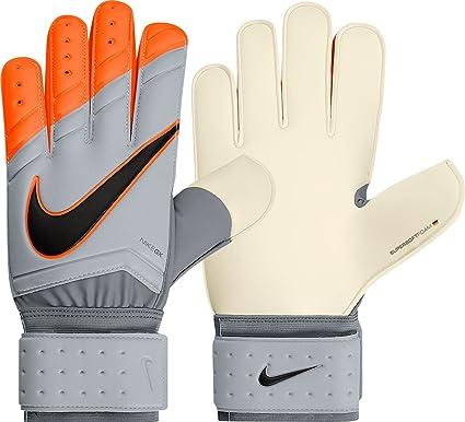 Nike GK Spyne Pro Soccer Goalkeeper Gloves (Grey, Total Orange) (6)