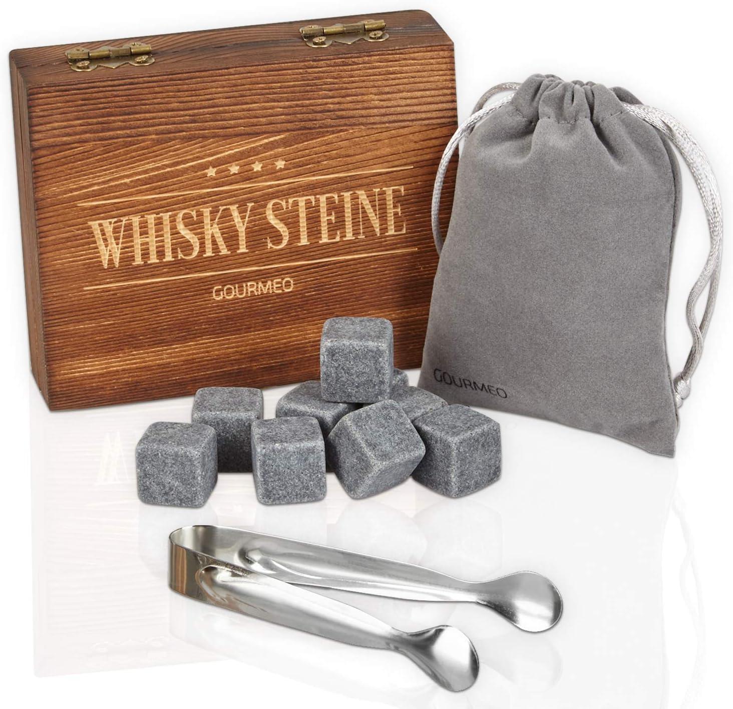 GOURMEO piedras para whisky (9 unidades) de esteatita natural ...