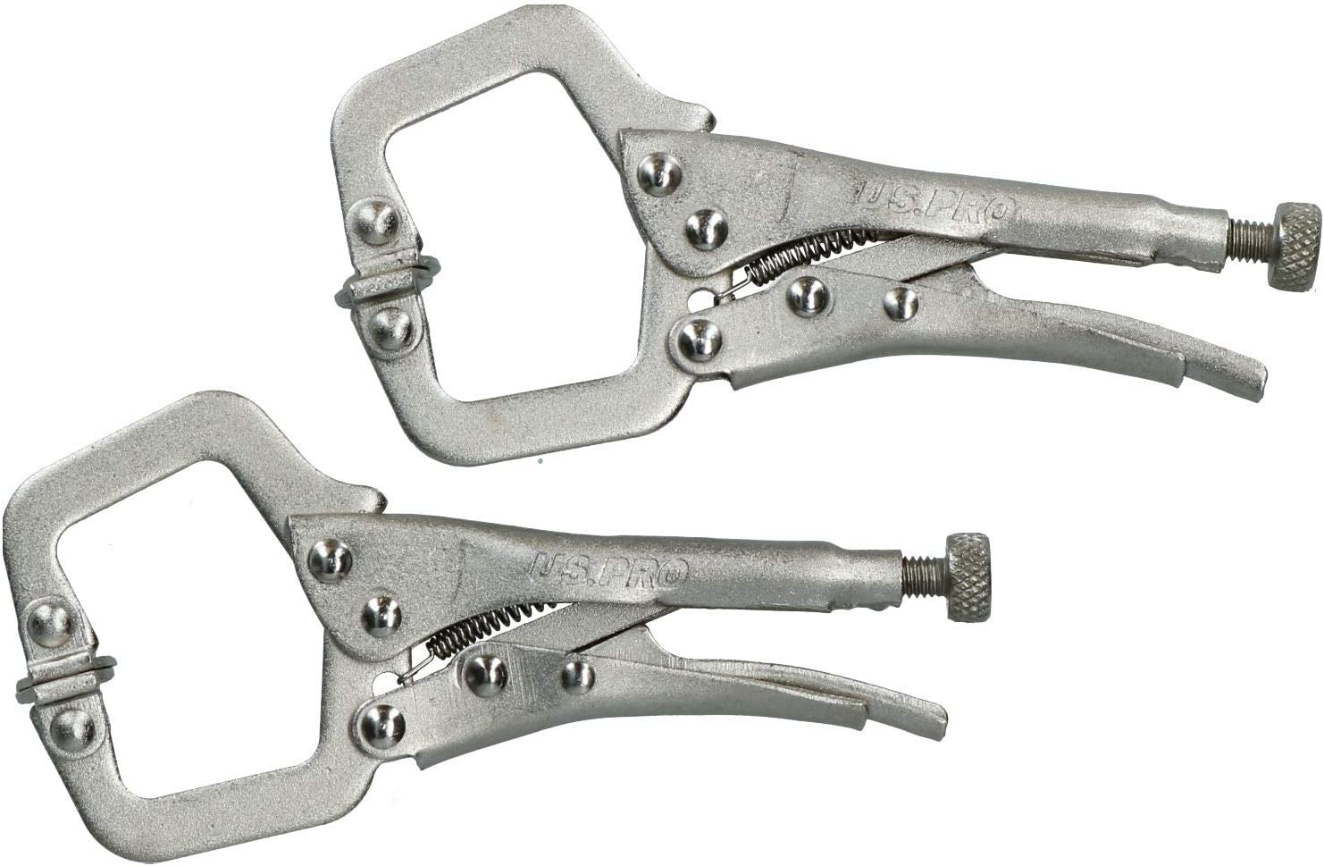 Mole Grip Wrench Set 3 Piece Mini Locking C Clamp Needle Nose Curved Pliers