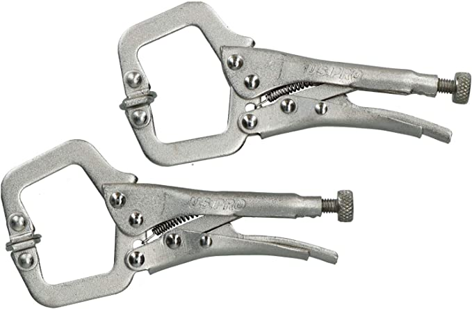 2PC MINI ADJUSTABLE LOCKING LONG NOSE MOLE VICE GRIP PLIER CLAMP WELDING TOOL .