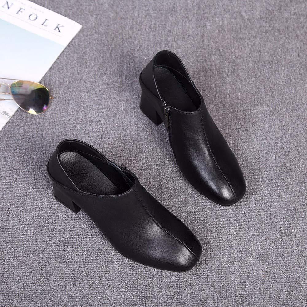 KOKQSX-Damen - Stiefel Stiefel - Tiefe Mund Leder high Heels die Schuhe Kurze Stiefel. 2ecb1f