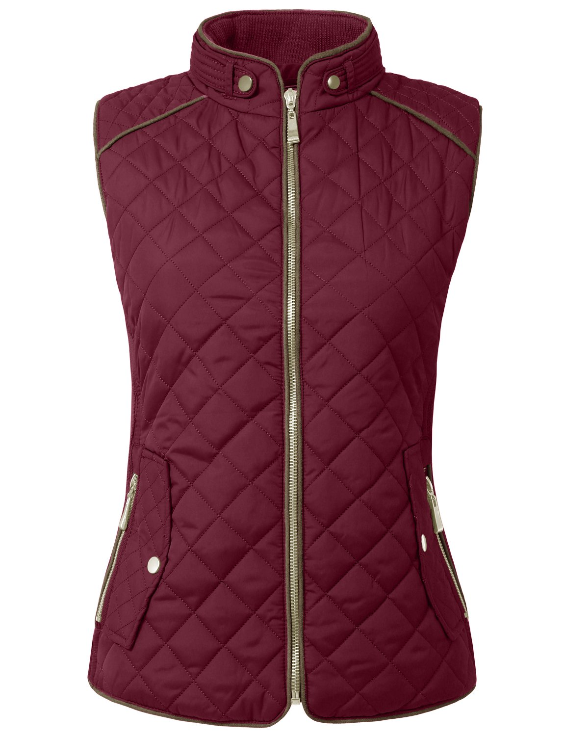 NE PEOPLE Womens Lightweight Quilted Fur Zip Vest in Various Styles S-3XL