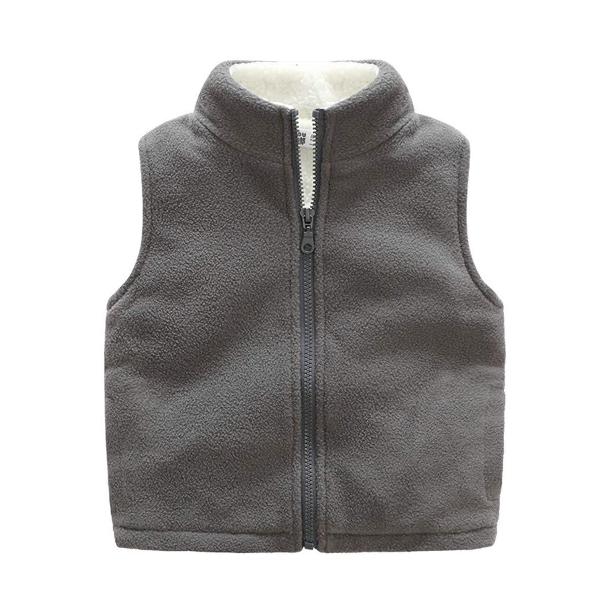 Midudu Fleece Sleeveless Jacket Boy Winter Solid
