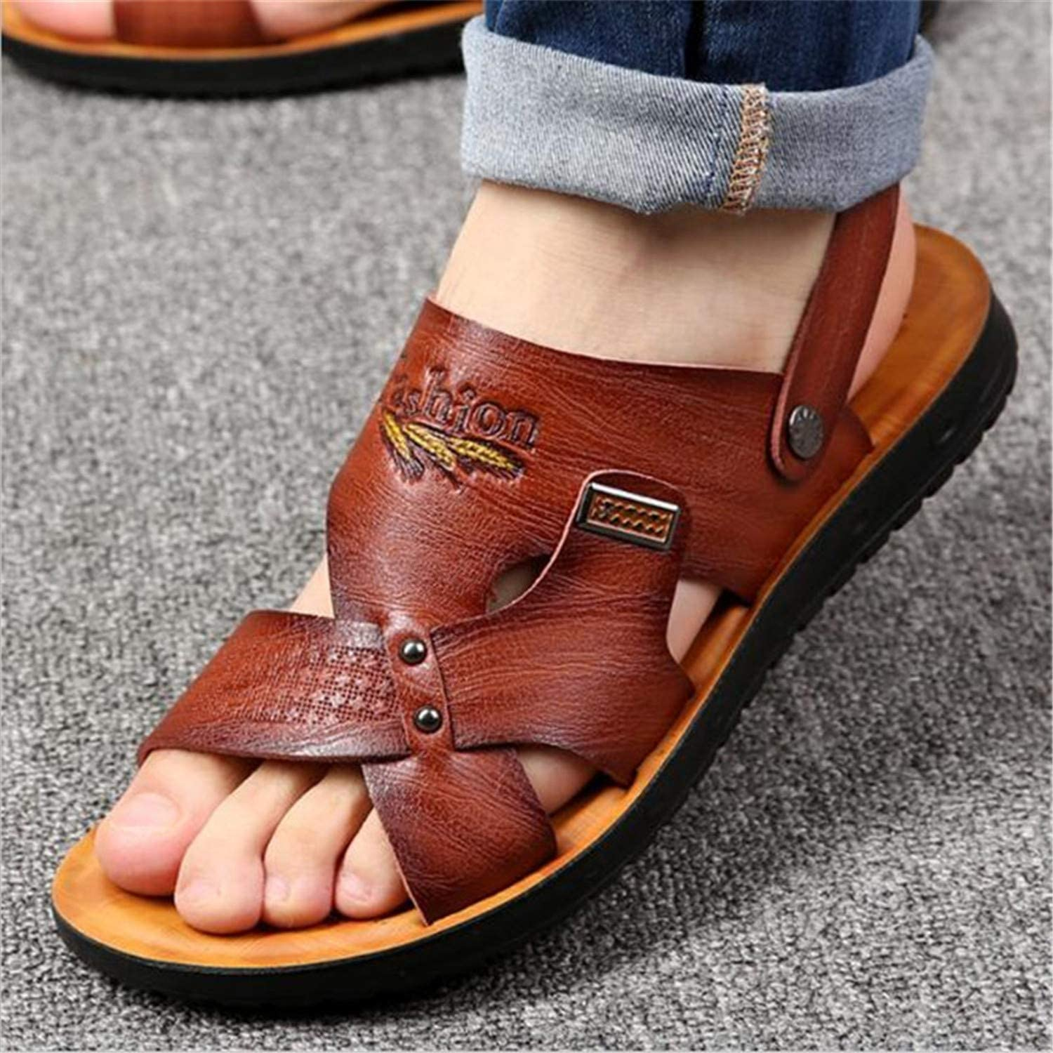 New 1Beach Shoes Mens Trend Casual Non-Slip Sandals Mens Sandals Slippers
