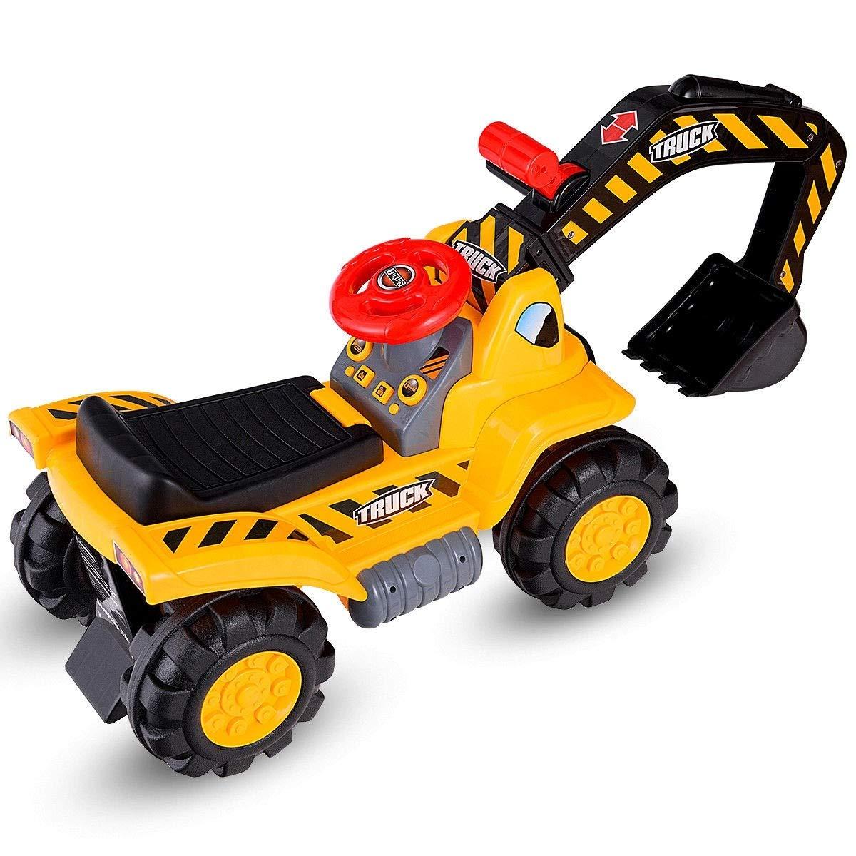 af13bcbcf21de Amazon.com  USA BEST SELLER Kids Toddler Ride On Excavator Digger Truck  Scooter Push Toy Vehicle  Toys   Games