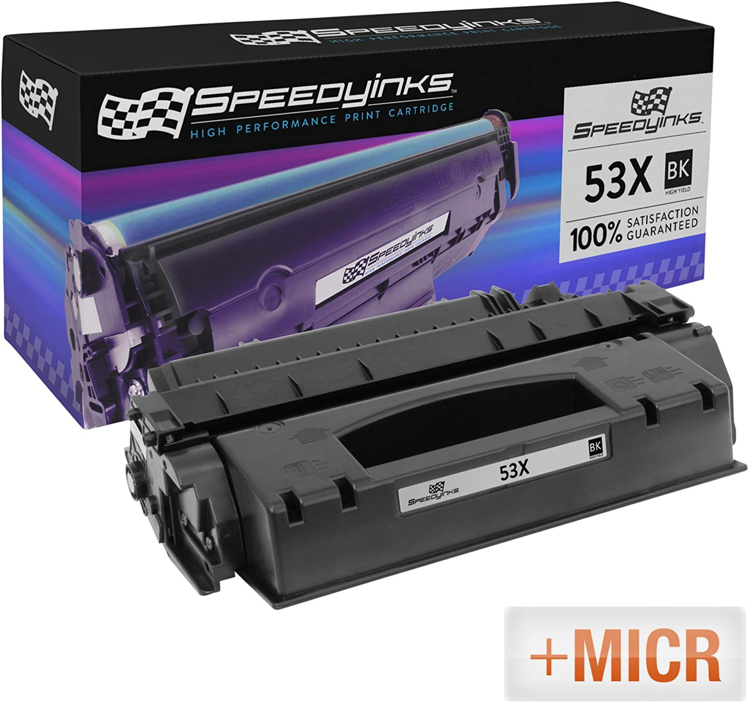 Speedy Inks Remanufactured MICR Toner Cartridge Replacement for HP 53X High Yield (Black)