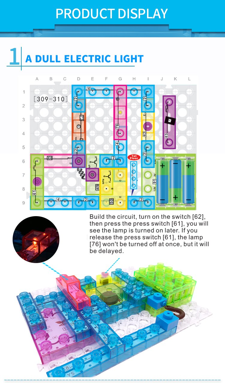 7tech Electronic Building Blocks 688 Spell Projects Diy How To Build An Electric Circuit Circuits Block Kit Educational Science Toy For Kids Toys Games