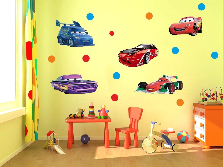 Buy Decor Kafe Cartoon Cars Wall Sticker Standard Size - 152cm X ...