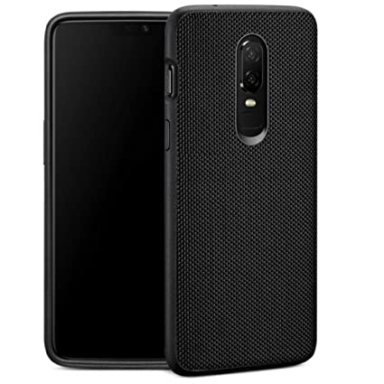 pretty nice 28448 555a0 Firecrown Premium One Plus 6 Nylon Back Cover Case for OnePlus 6 / OP6  (1+6) | Black | Anti Scratch Non Slip | Camera Protection