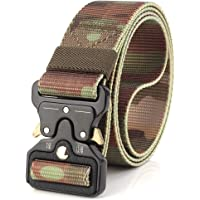 Jelinda Men's Tactical Belt Nylon Military Style Webbing Belt with Metal Buckle