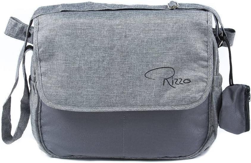 Roma Rizzo Sac /à langer Bleu marine Sac ziplock et pratique sac /à main T/étine//Sucette