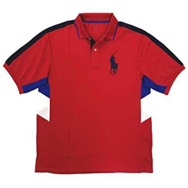 e2969e77 Polo Ralph Lauren Men's Big & Tall Performance Polos, Big Pony Short Sleeve  Shirts at Amazon Men's Clothing store:
