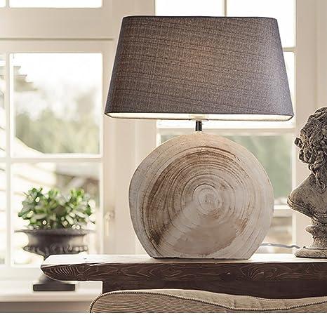Amazon.com: jiejing Woody lámpara de mesa de estilo europeo ...