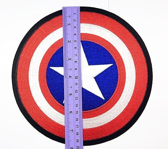 Gran tamaño capitán americano parche Logo chaqueta camiseta parche coser hierro en bordados Badge Emblem Sign: Amazon.es: Juguetes y juegos