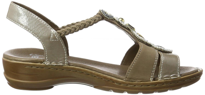 Ara Hawaii Damen Damen Hawaii Knöchelriemchen Sandalen Beige (Taupe,cotton) dab808