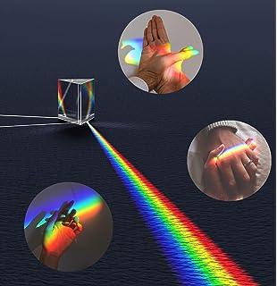 91*21*15mm Rainbow Optical Glass Triple Prism Physics Teach Tool