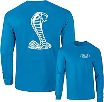 Lucky Ride Ford Mustang American Shelby White Snake Long Sleeve T-Shirt F&B
