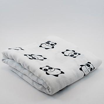 Amazon.com: Manta de bebé de algodón//Panda, manta de bebé ...