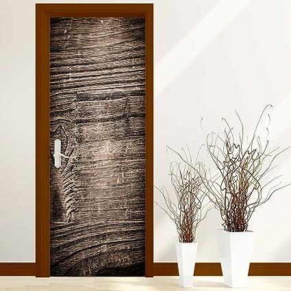 . Amazon com  Homesonne 3D Door Wallpaper Creative Door Stickers