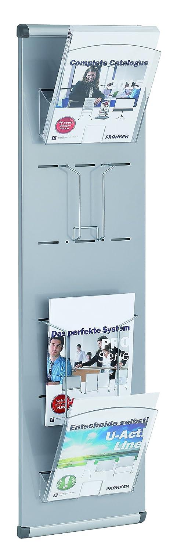 Franken PSM A4 12 Piantana portastampati colore: grigio formato DIN A4