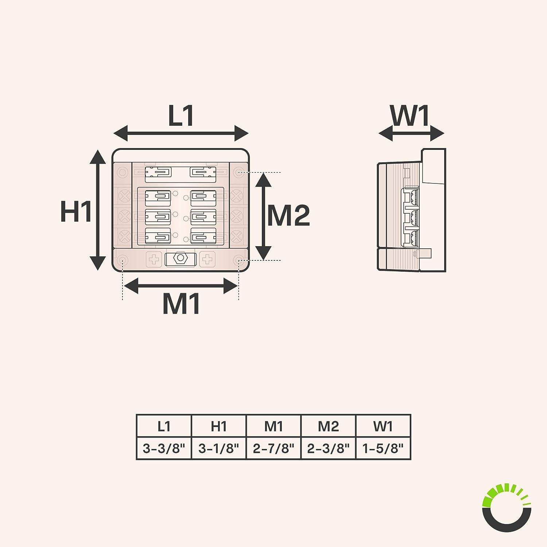 Amazon.com: Caja de fusibles modular de 6 vías de ...