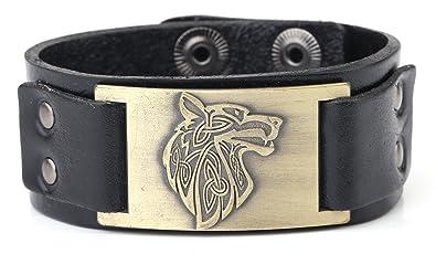 Amazon Com Dawapara Vintage Nordic Fenrir Viking Wolf Scandinavian