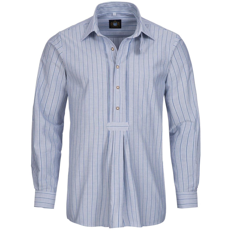 Trachtenhemd Regular Fit in Blau von Hammerschmid